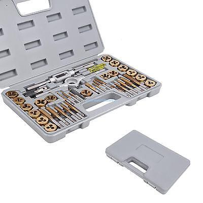 40pc Titanium Coated Metricsae Tap And Die Set Standard W Case