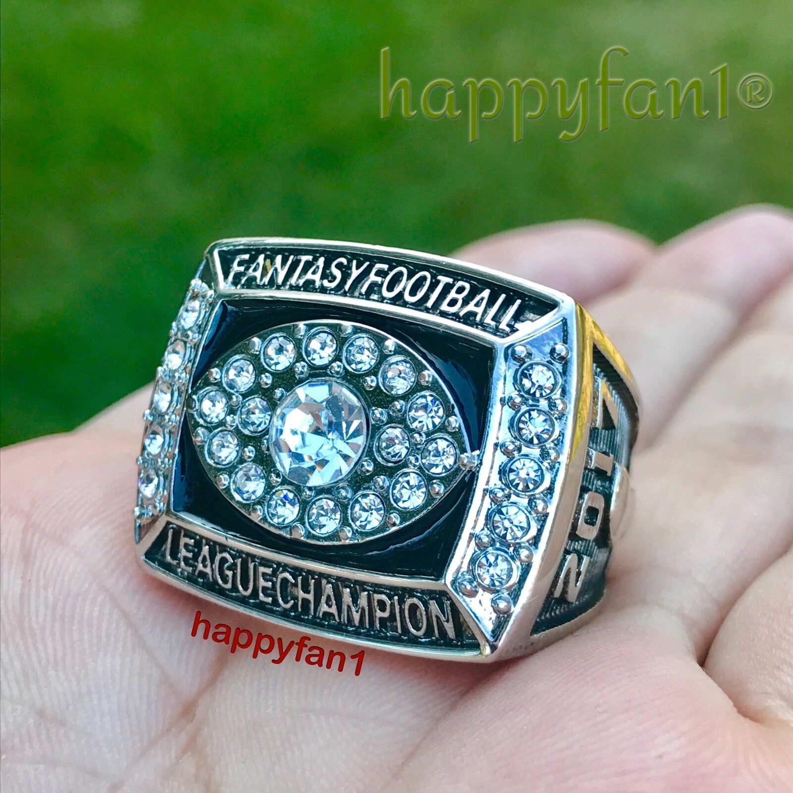 2017 Fantasy Football Championship Ring Season League Trophy size 8-14 New
