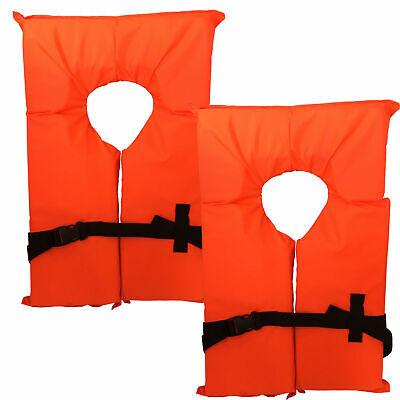 Type II Neon Orange Life Jacket Vest - Adult Universal or Yo