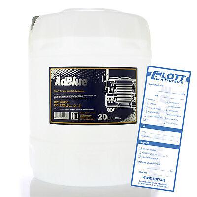Mannol ADBLUE® Abgasreinigung Diesel TDI Additiv Harnstofflösung Ad Blue SCR 20L