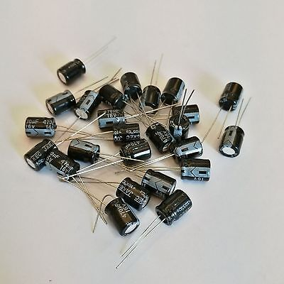 Us Stock 50pcs Electrolytic Capacitors 470uf 470mfd 16v 105 Radial 8 X 11mm