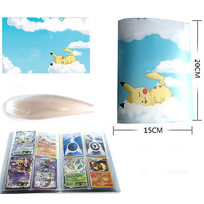 Pikachu Book Pages Sheets Holder Pocket Album For 112X Pokemon Card Collection