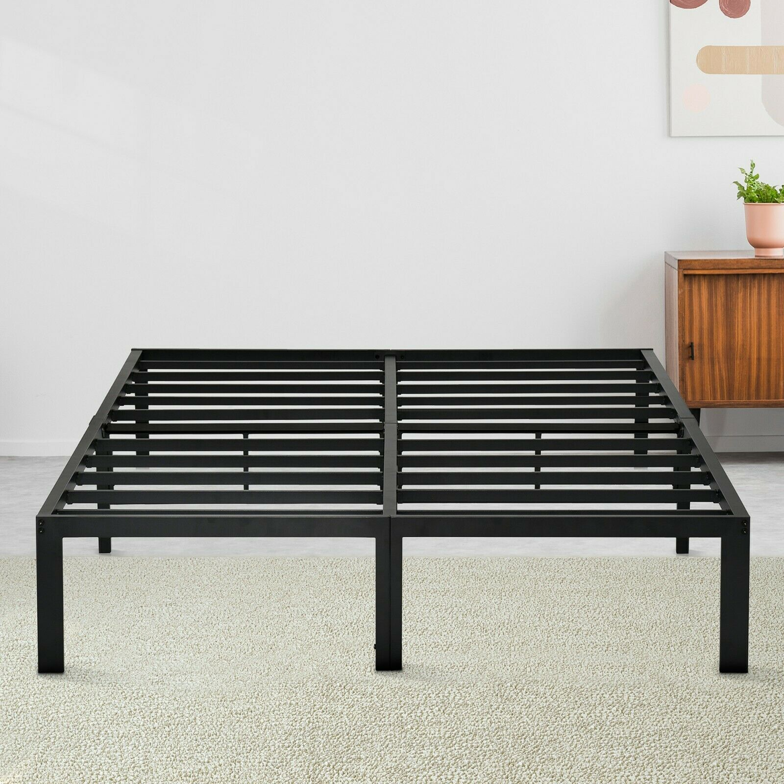 SLEEPLACE 14 Steel Bed Frame Sturdy Platform Bed Twin TwinXL
