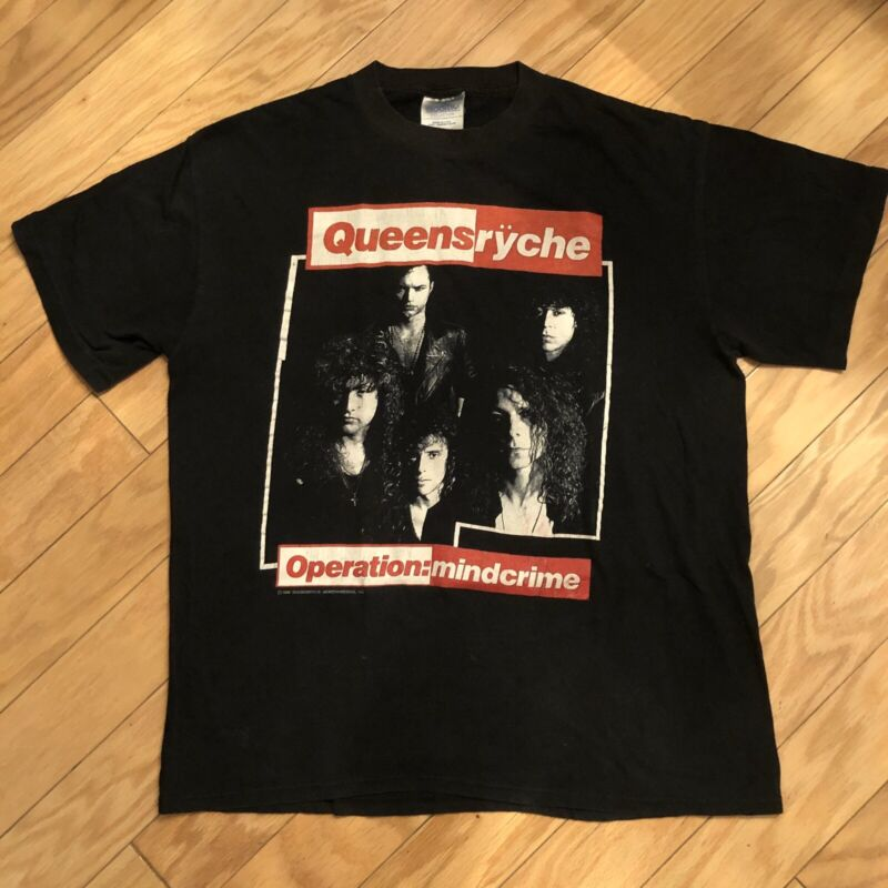 Queensryche Operation Mindcrime Size L 1988 Vintage Tour Shirt Made In USA