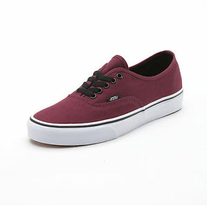 vans authentic off the wall rouge bordeaux tailles du. Black Bedroom Furniture Sets. Home Design Ideas