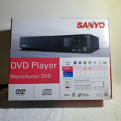SANYO DVD Player Reproductor (DVD/CD)~FWDP105F W/Remote