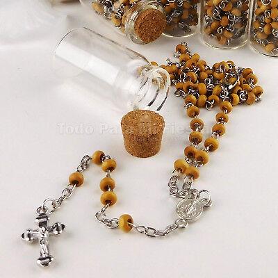 Recuerdos de Bautizo Bapism Favors Cross Rosary Bag Fillers Boda Quinceanera 12