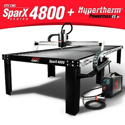 Stv Cnc Sparx-4800 4x8 Plasma Cutting Table Hypertherm Powermax45 Xp Machine