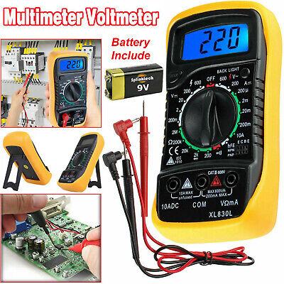 Lcd Digital Multimeter Voltmeter Ammeter Ohm Ac Dc Current Circuit Tester Buzzer