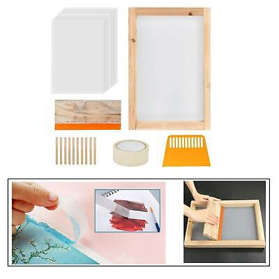 24pcs Screen Printing Starter Kit Silk Screen Frame Squeegee Tool For T-shirts