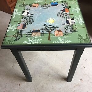 Tole painted small table