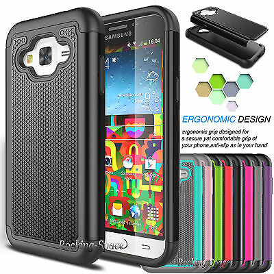 Hybrid Shockproof Rugged Silicone Hard Case Cover for Samsung Galaxy J7