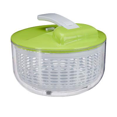 Salatschleuder zum Drücken Salad spinner Salattrockner Salatkarussel groß Sieb