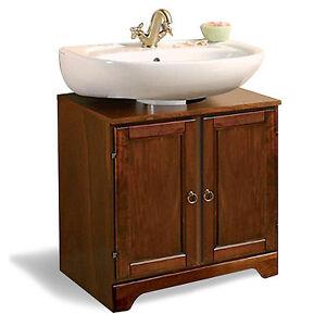 Copri colonna sottolavabo in arte povera in legno noce per arredo bagno ebay - Colonna bagno mercatone uno ...