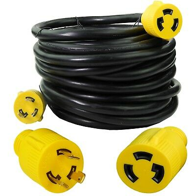 Generator Extension Cord 50 Ft 3 Prong Power Cable 10 3 30 Amp Adapter Plug New