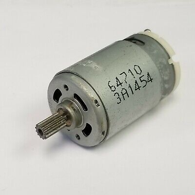 Johnson Dc Motor 64710 3a1454 18 Shaft With Gear