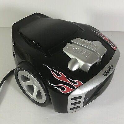 Hot Wheels SnoreSlammer AM/FM Alarm Clock Radio HW800 Engine Sounds Night Light