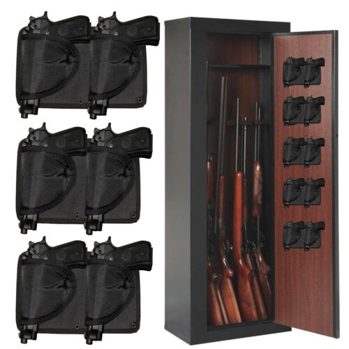 Gun Holder Holster  - Mount a Handgun Anywhere Holds Any Size Pistols 3 Packs