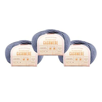 Lion Brand Yarn 483-152 LB Collection Cashmere Yarn, Pewter (Pack of 3 balls)