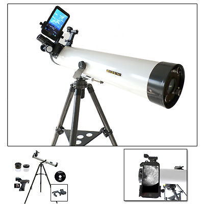 Brand NEW Cassini 800mm x 80mm Astronomical Telescope w/ Smartphone Adapter