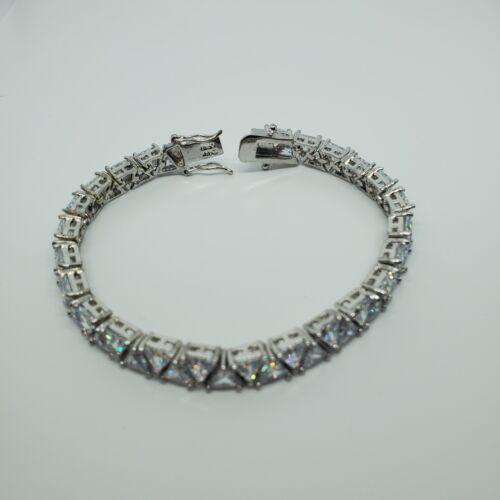 The Nolan Miller Glamour Collection, Trillion Line Crystal Bracelet, Signed