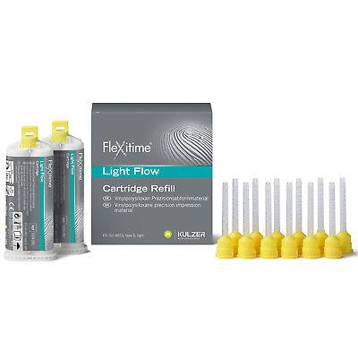 Flexitime Light Flow 50 Ml Cartridge Refill Heraeus Kulzer Mixing Tips Fda