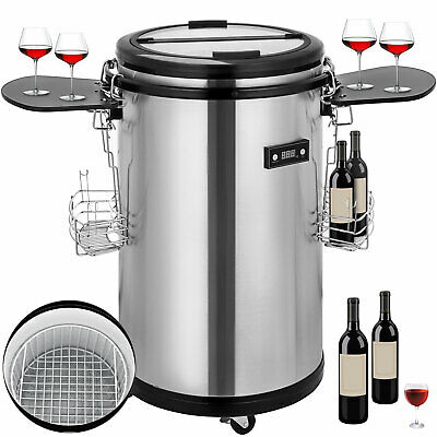 Party Cooler Fridge Stainless Steel Outdoor Drinks Refrigerated Beverage Cooler