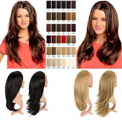Long Reversible Wig ,Straight 26'' Flick 28'' Half Head  3/4 Weave Hair -