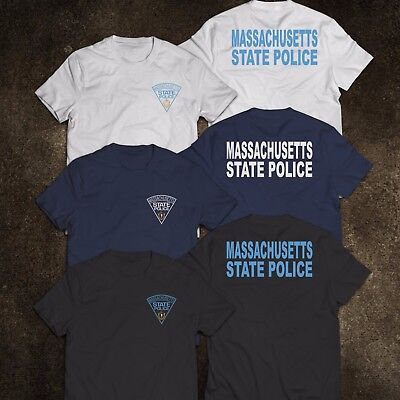 New Massachusetts Police State United States Department Justice Mens Tee T Shirt
