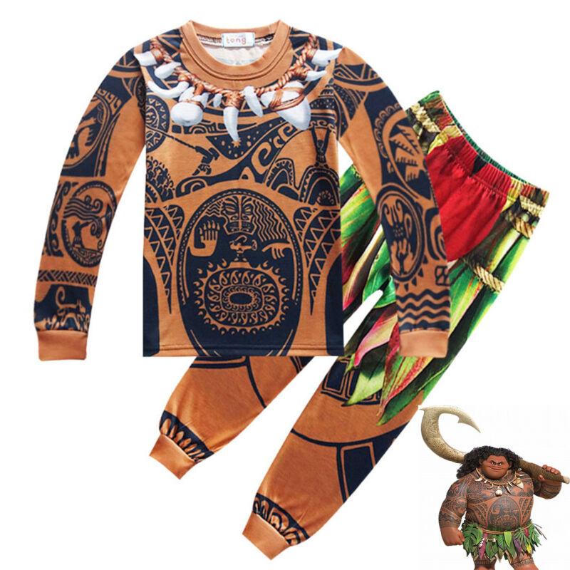 Karneval Kostüm Moana Maui Cosplay Kinder Jungen Pyjamas Nachtwäsche Schlafanzug