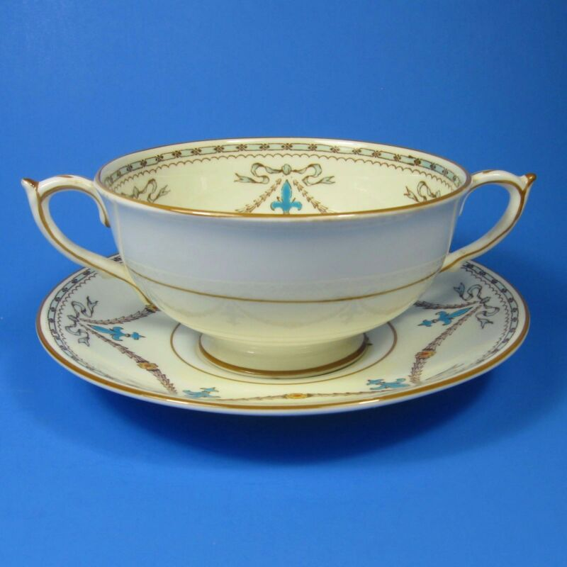 Paragon BEAUPRE Footed Cream Soup Bowl & Saucer Set (s) Bone China England