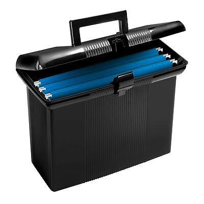 Pendaflex Portable File Box Black 11 H X 14 W X 6-12 D 41732