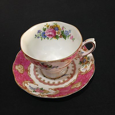 ROYAL ALBERT Lady Carlyle  Bone China Teacup And Saucer Made In England Vintage
