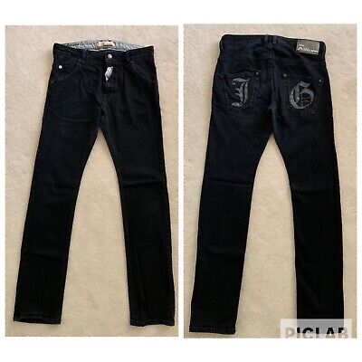 JOHN GALLIANO Juniors Big Boys Kids Slim Skinny Black Cotton Jeans Pants Sz 14