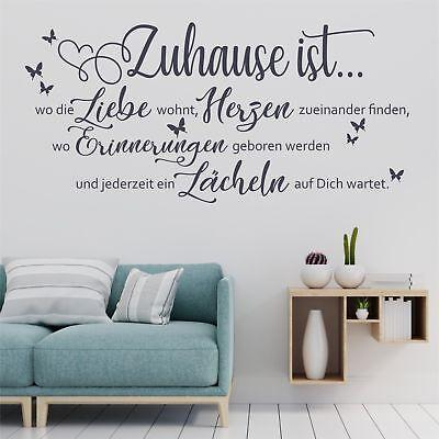 Wandtattoo Wandsticker Wandaufkleber Zuhause ist Liebe Familie Flur WT148 (Dekoration Zu Hause)