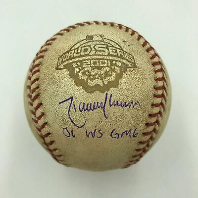 Randy Johnson Signed 2001 World Series Game 6 Game Used Baseball Steiner -
