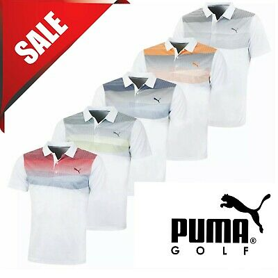 Puma Golf Mens Pwrcool Refraction DryCELL Performance Polo Shirt 45% OFF RRP New