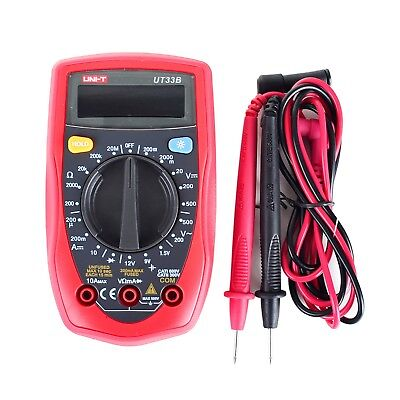 Uni-t Ut33b Digital Multimeter Lcd Palm Size Dcac Ohm Current Resistance Test