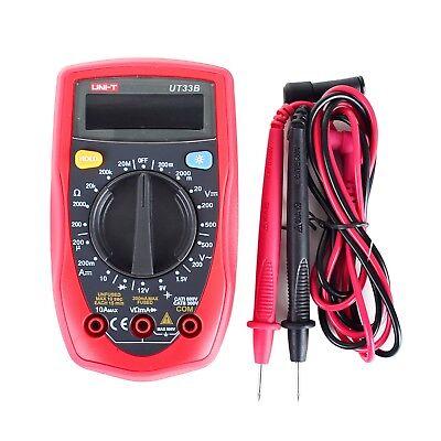 Uni-t Ut33b Digital Multimeter Lcd Palm Size Dcac Ohm Current Resistance Test