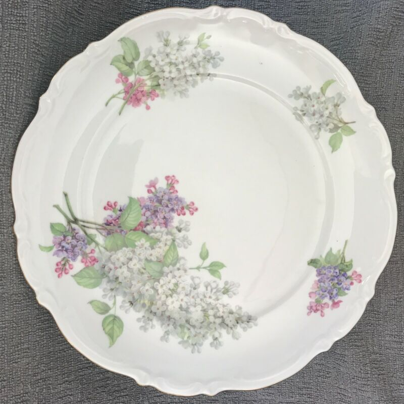 "Vintage Mitterteich Bavaria Lilac Dinner plate 10 1/2"" exc condition 1 available"
