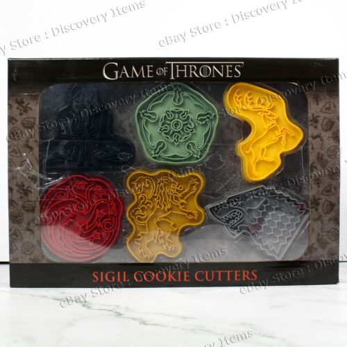 NEW 2017 ThinkGeek HBO Game of Thrones SIGIL Cookie Cutters 6-pc New In BOX