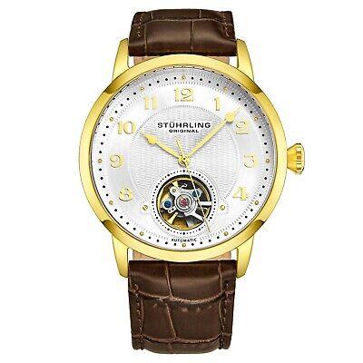 Stuhrling Men's 781.03 Skeletonized Yellow Automatic Self Wind Luxury Watch
