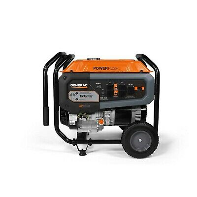 Genarac Gp6500 Power Rush Generator Portable Gasoline Powered Co-sense 50csa