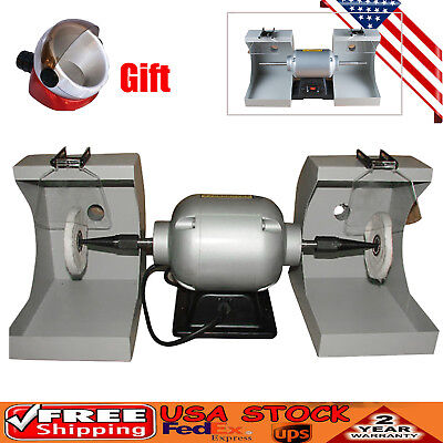 Dental Lab Polishing Lathe Machine With Detachable Dust Hood Gift Suction Base