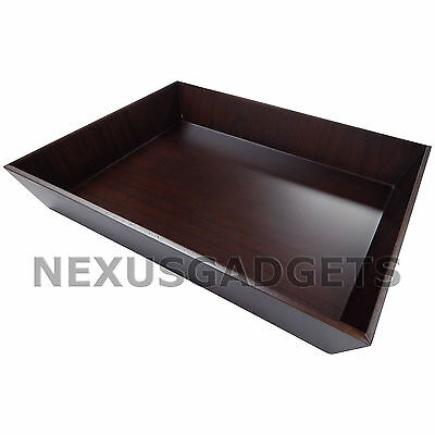 Black Walnut Wood Paper Tray Letter Size -classy Home Office Desk Wooden Decor