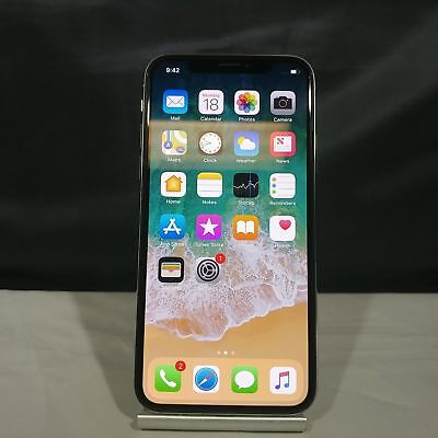 Apple iPhone X 64GB Silver Unlocked Very Good Condition