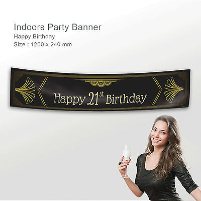 Personalised Happy 21st Birthday Gift Idea Canvas Party Banner Decoration