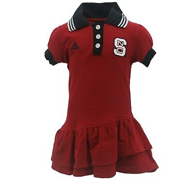 NC State Wolfpack NCAA Adidas Infant Toddler Girls Size Dress-Style Outfit New - Nc State Apparel