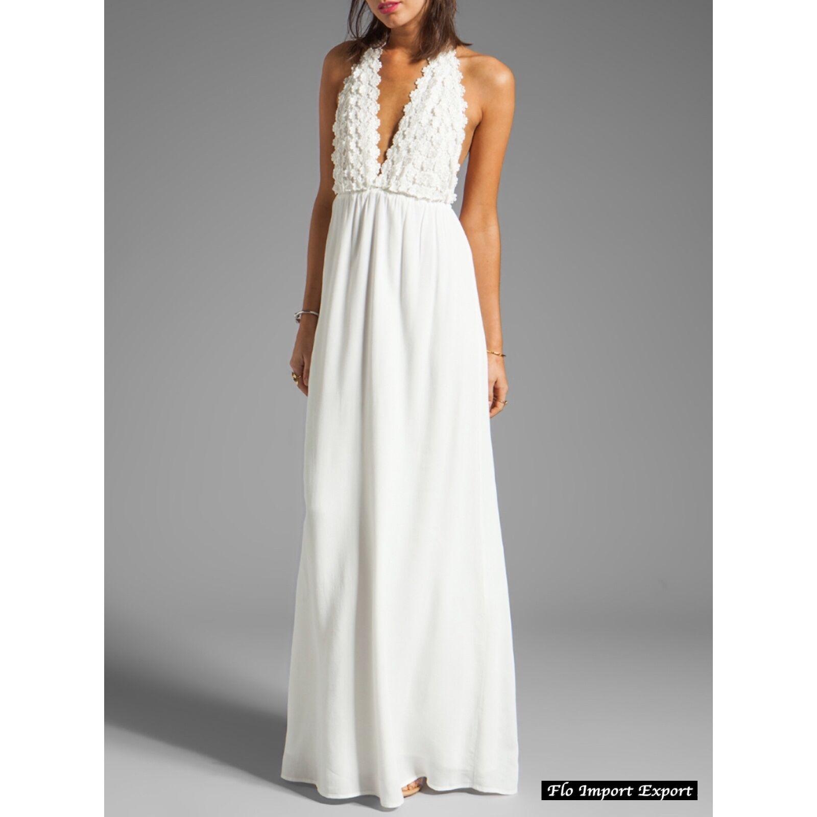 f6898c1607866 https   www.ebay.it itm Vestito-Lungo-Copricostume-Bianco-Donna-Woman -Cover-Up-Maxi-Dress-110293- 222571740156