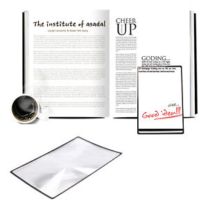 A5 Magnifying Sheet Fresnel Lens Magnifier Reading Glass